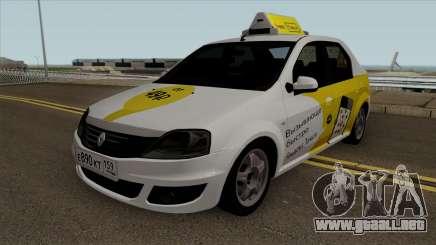 Renault Logan Yandex Taxi para GTA San Andreas