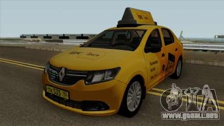 Renault Logan 2017 Yandex Taxi para GTA San Andreas
