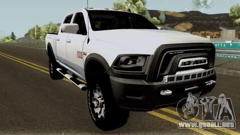 Dodge Ram 2500 Power Wagon 2017 para visión interna GTA San Andreas