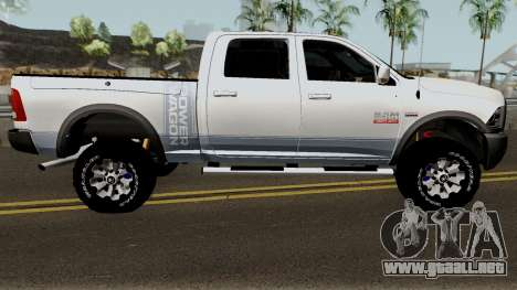 Dodge Ram 2500 Power Wagon 2017 para GTA San Andreas vista hacia atrás