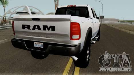 Dodge Ram 2500 Power Wagon 2017 para la visión correcta GTA San Andreas