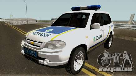 Chevrolet Niva GLC 2009 Ukraine Police White para GTA San Andreas