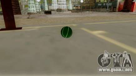 Green Basketball Ball by Vexillum para GTA San Andreas
