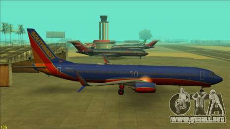 Southwest Airlines 737-800 para GTA San Andreas