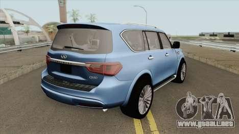 Infiniti QX80 2018 para GTA San Andreas