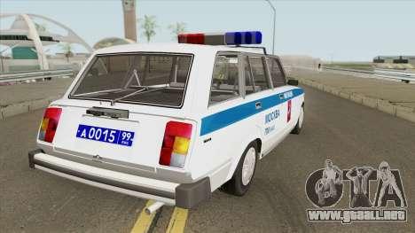 VAZ 2104 (Policía de Moscú) para GTA San Andreas