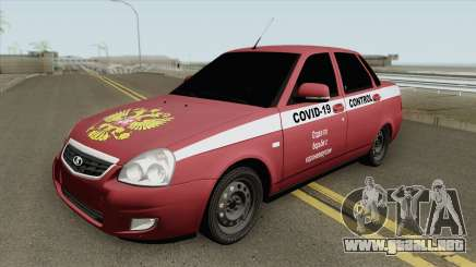 Lada Priora (COVID-19 Control) para GTA San Andreas