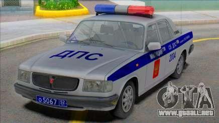Gaz Volga 3110 Policía DPS 2000 para GTA San Andreas