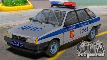 Vaz-2109 Policía DPS 2002 para GTA San Andreas