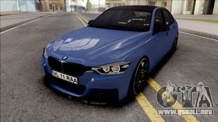 BMW 3-er F30 LCI M-Tech 2017 Light Tuning para GTA San Andreas