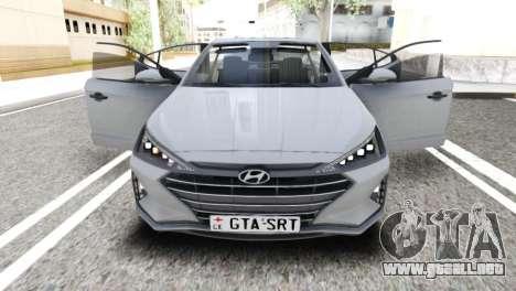 2019 Hyundai Elantra Exclusivo para GTA San Andreas