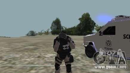 PIEL DE SCP MTF para GTA San Andreas