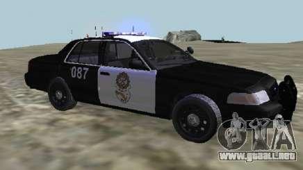 Ford CrownPolicia Federal de Caminos MX para GTA San Andreas