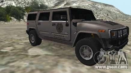 Hummer H2 CSI:Miami para GTA San Andreas