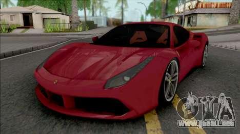Ferrari 488 GTB Red para GTA San Andreas
