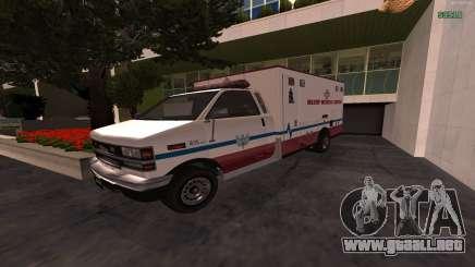MGCRP AMBULANCIA Mod para GTA San Andreas