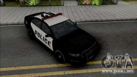 GTA V Vapid Interceptor [VehFuncs] para GTA San Andreas