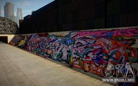 Los Angeles 90s Stormdrain Graffiti para GTA San Andreas
