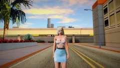 Rachel v7 Blue Skirt para GTA San Andreas