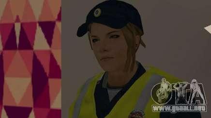 Un empleado del Ministerio del Interior con chaleco para GTA San Andreas