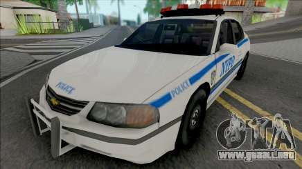 Chevrolet Impala 2003 NYPD (512x512 Texture) para GTA San Andreas