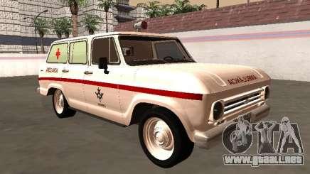 Chevrolet Veraneio 1973 Ambulancia INAMPS para GTA San Andreas