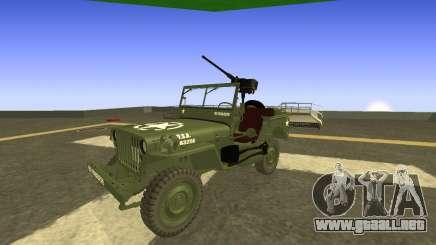 JEEP Wrangler US Army Harinder Mods para GTA San Andreas