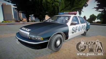 Chevrolet Caprice 1992 (SFPD) - Improved para GTA San Andreas