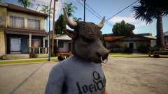 GTA V Bull Mask For CJ para GTA San Andreas