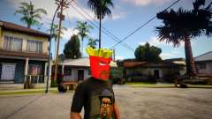 AQUA TEEN HUNGER FORCE - Frylock Mask For CJ para GTA San Andreas