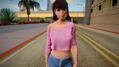 Tiffany Cox from Friday the 13th: The Game para GTA San Andreas