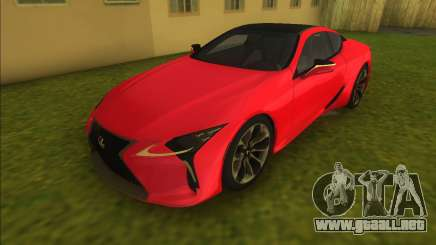 Lexus LC500 2018 para GTA Vice City