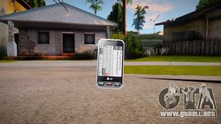 LG T320 para GTA San Andreas