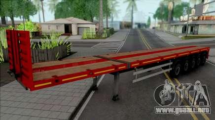 Trailer Flatbed 5 Axles para GTA San Andreas