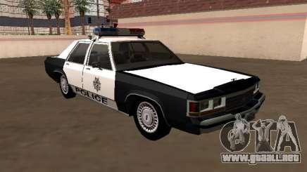 LTD Crown Victoria 1991 Policía Metropolitana de Las Vegas para GTA San Andreas