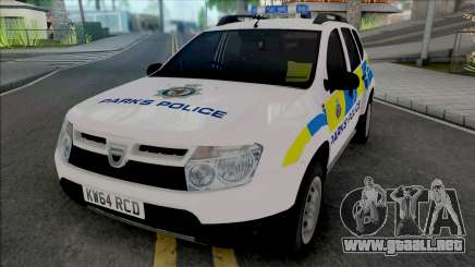 Dacia Duster Parks Police United Kingdom para GTA San Andreas
