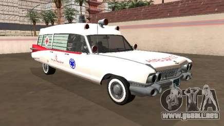 Cadillac Miller-Meteor 1959 Vieja Ambulancia para GTA San Andreas