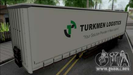 Trailer Turkmen Logistic para GTA San Andreas