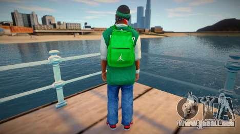 New fam3 backpack para GTA San Andreas