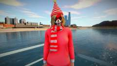 Female striped scarf from GTA Online para GTA San Andreas