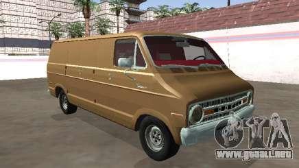 Dodge Tradesman 200 1972 Van Long Chasis para GTA San Andreas
