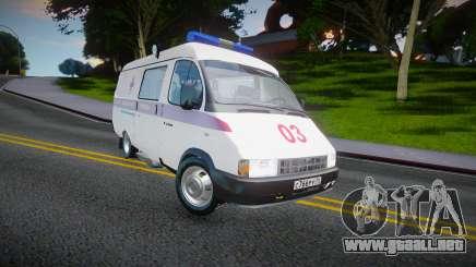 Gaz-32214 (Gazel) - Ambulancia para GTA San Andreas