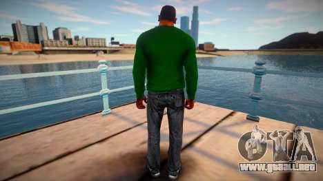 CJ 2015: Vista previa de la piel (Estilo Grove) para GTA San Andreas