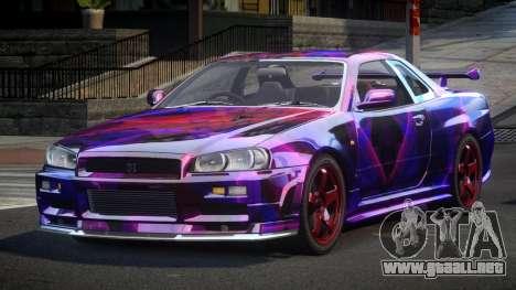 Nissan Skyline R34 PSI-U S5 para GTA 4