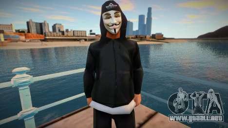 Str3sU ComputerS Skin - Anonymous Style para GTA San Andreas