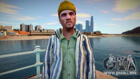 Criminal ruso en traje de prisión para GTA San Andreas
