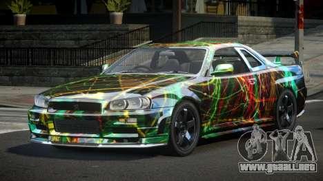Nissan Skyline R34 PSI-U S10 para GTA 4