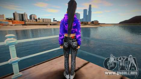 DOA Momiji Fashion Casual V2 Crop Hoodie para GTA San Andreas