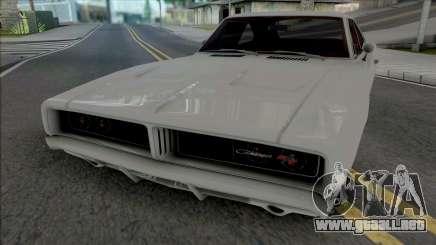 Dodge Charger RT 1969 White para GTA San Andreas