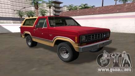 Ford Bronco XLT 1982 para GTA San Andreas